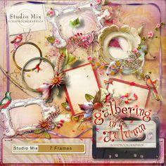 Scrapbookgraphics.com :: Collaborative Projects :: Studio Mix #76: Gathering In Autumn Frames