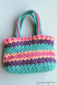 My Merry Messy Life: Crochet Seed Stitch Purse {free crochet pattern}