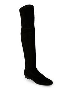 Robert Clergerie Black Fissaj Stretch Over-The-Knee Flat Boots