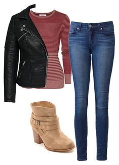 """Elena Gilbert Inspired Outfit"" by mytvdstyle ❤ liked on Polyvore featuring Current/Elliott, Paige Denim, Splendid, ONLY, women's clothing, women's fashion, women, female, woman and misses"