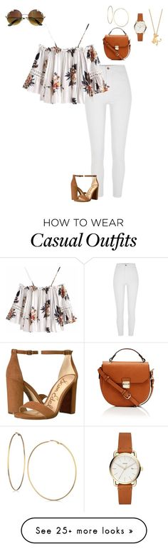 """Untitled #162"" by glitterqueenz on Polyvore featuring River Island, GUESS, Sam Edelman, Disney and offtheshoulderblouse"