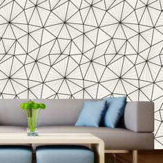 Papel de parede adesivo geométrico - StickDecor | Decoração Criativa
