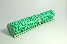 JaponskaZahrada / Handmade papier - Zrnká ryže tyrkysové