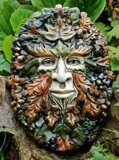 spirit-of-the-green-man-sculpture by kathleen minton