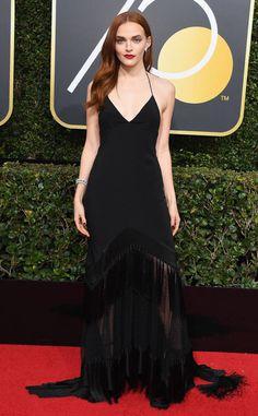Madeline Brewer: 2018 Golden Globes Red Carpet Fashion