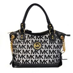 Michael Kors Jacquard Monogram Large Grey Satchels Are High Quality And Cheap Price!