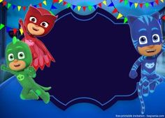 PJ Masks fans must be ready for our PJ Masks invitation template. These characters are kind of the favorable ones for kids. And this is why you may need to consider using our free printable PJ Masks invitation template. Besides its colorful colors, P Pj Masks Birthday Cake, Free Printable Birthday Invitations, Kids Birthday Party Invitations, Superhero Birthday Party, Boy Birthday Parties, 25th Birthday, Free Invitation Templates, Templates Printable Free, Pj Masks Printable