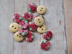A personal favorite from my Etsy shop https://www.etsy.com/listing/400111883/new-listing-10-red-floral-2-hole-15mm