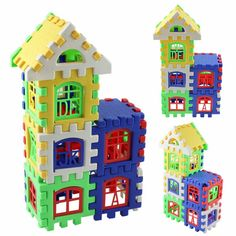 Baby Kids House Building Blocks Educational Learning Construction Developmental Toy Set Brain Game Toy 24 Pcs