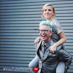 Tyler Oakley Hannah hart Harto YouTube rewind YouTubers #teaminternet