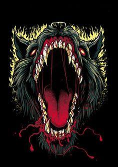 Beauty and the Altered Beast Wolf Illustration, Arte Horror, Horror Art, Dope Kunst, Altered Beast, Satanic Art, Metal Artwork, Dark Fantasy Art, Dope Art