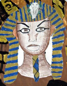 Cassie Stephens: Walk Like an Egyptian - I taught a shortened lesson with the kids just doing their heads. Ancient Egypt Lessons, Ancient Egypt For Kids, Cassie Stephens, Egyptian Art, Art Classroom, Elementary Art, African Art, Art Education, Art Lessons