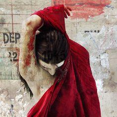 """modern suffering"" series by Jaya Suberg #mixed #media"