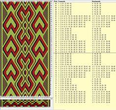 42 tarjetas hexagonales, 4 colores, repite cada 24 movimientos // sed_413_c6 diseñado en GTT༺❁