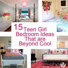 Teen Girls Room gray striped walls black and white bedding