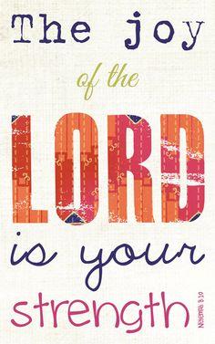 Scripture Art, Bible Verse Art, Faith Based Art, Nehemiah 8:10, 5x8 art print on wood