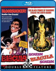 Details on the upcoming Blu-ray Double Feature of Blacula and Scream, Blacula, Scream! Available 3/3/2015.