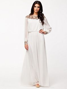 Embellished Off Shoulder - Nly Eve - White - Party Dresses - Clothing - Women - Nelly.com Uk