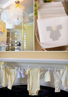 Yellow  Gray Baby Shower