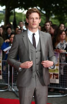 james norton | James Norton Wearing Burberry Tailoring Suit At UK Movie Premiere