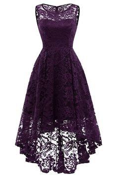 Market In The Box Women's Lace Dress Vintage Floral Sleeveless Hi-Lo Formal Party Dress Asymmetrical Cocktail Formal Swing Dress Cute Dresses, Casual Dresses, Short Dresses, Elegant Dresses, Pretty Dresses For Teens, 1950s Dresses, Party Dresses For Women, Dresses Dresses, Summer Dresses