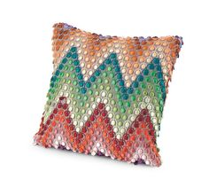 Naciria mixes pattern and texture for a pillow with an extra boost of fun by MissoniHome.