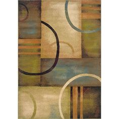 Add modern style to any room in your home with this abstract contemporary area rug. The neutral tones will coordinate well with many different decors, and it is made of polypropylene, which makes it ideal for both indoor and outdoor use.