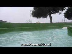 Wildwaterbaan Onslide Centerparcs Port Zélande Ouddorp, Holland. Vakantiepark met subtropisch zwembad