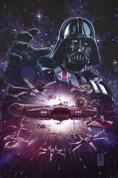 Marvel Comic Book Artwork • Star Wars Darth Vader. Follow us for more awesome comic art, or check out our online store www.7ate9comics.com