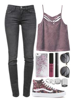 """Just friends"" by iarsotelo on Polyvore featuring Current/Elliott, RVCA, Vans, Skinnydip, NYX, Surratt y Betty Jackson"