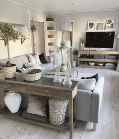 Big Living Rooms, Boho Living Room, Living Room Grey, Home And Living, Barn Living, Living Room Tables, Black And Cream Living Room, Living Room Lounge, Dining Room