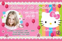 18 Elegant Kitty Party Invitation Card Background Gallery - Playing cards for baby bathe need to be further special and immaculate to make sure that the Hello Kitty Invitation Card, Hello Kitty Birthday Invitations, Invitation Cards, Free Party Invitations, Free Printable Invitations Templates, Kitty Party Games, Cat Party, Mexican Birthday Parties, Hello Kitty Halloween