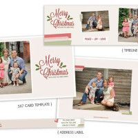 Free Christmas Card Template, Free Christmas Timeline Cover, Free Address Label