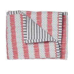 Blue/Red Quilted Nursery Blanket. Pehr Designs
