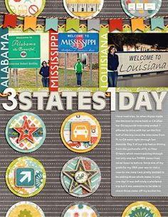 3 States 1 Day - Club CK - The Online Community and Scrapbook Club from Creating Keepsakes