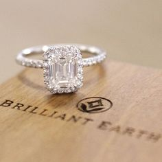 An enchanting emerald cut diamond.
