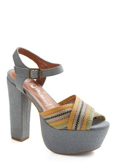 I want summer and these on my feet with denim shorts & flowy white blouse & big colorful earrings