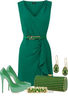 """""""Gone Green"""" by christa72 ❤ liked on Polyvore"""