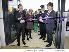 Con el conseller y amigo, Luis Santamaría, inaugurando la nueva Central de Policía de Gandia, tras 20 años de promesas de los socialistas