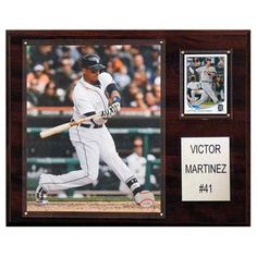 C and I Collectables MLB 15W x 12H in. Victor Martinez Detroit Tigers Player Plaque - 1215VMARTDET