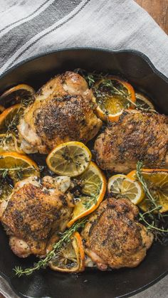Chicken Thighs ~ Recipe Your new favorite comfort dish will feel like a hug from the inside out.Your new favorite comfort dish will feel like a hug from the inside out. Rosemary Chicken, Garlic Chicken, Baked Chicken, Chicken Recipes, Roast Chicken Thigh Recipes, Stuffed Chicken, Recipe Chicken, Boneless Chicken, Rotisserie Chicken