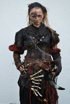 Inspiration for post apoc costumes (Page - Costumes - Wasteland Weekend Forums - Online Post-apocalyptic Community Post Apocalyptic Costume, Post Apocalyptic Fashion, Cyberpunk, Fantasy Armor, Medieval Fantasy, Medieval Dress, Conquest Of Mythodea, Morgana Le Fay, Marla Singer