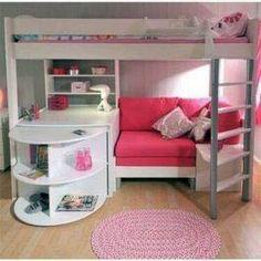 37 Trendy bedroom ideas for teen girls dream rooms diy loft beds Girls Bunk Beds, Teen Girl Bedrooms, Kid Beds, Girl Rooms, Shared Bedrooms, Small Room Bedroom, Bedroom Loft, Trendy Bedroom, Small Rooms