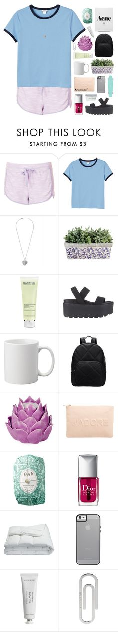 """""""working on a feeling"""" by feels-like-snow-in-september ❤ liked on Polyvore featuring Topshop, Monki, Darphin, SPURR, Zara Home, Miss Selfridge, Fresh, Christian Dior, Frette and Byredo"""