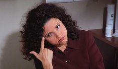 """Elaine is dismayed by colleagues wearing a bra as a top in, """"The Caddy. People Talk, My People, Funny People, Friends Tv Quotes, Elaine Benes, Best Sitcoms Ever, Julia Louis Dreyfus, Girl Meets World, Boy Meets"""