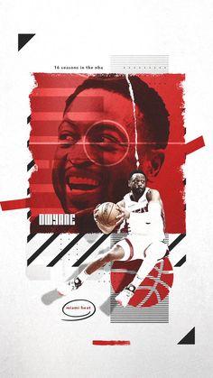 Future Hall of Famer Dwyane Wade Web Design, Flyer Design, Banners, Robinson, Sports Graphic Design, Basketball Design, Sports Graphics, Sports Wallpapers, Sports Art