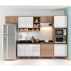 interior kitchen on Behance Simple Kitchen Design, Kitchen Room Design, Home Decor Kitchen, Kitchen Interior, One Wall Kitchen, Small Space Kitchen, Kitchen Sets, High Gloss Kitchen Cabinets, Modern Kitchen Cabinets