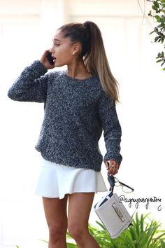 the street style of the beauty Ariana Grande<33333333333