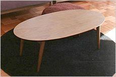 ミッドセンチュリー ローテーブル 【Oval】オーバル コーヒーテーブル
