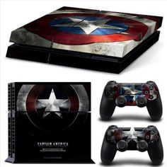 Captain America SKIN for Your PS4 Controller & Console ps4 http://xboxpsp.com/ppost/123989795971205592/